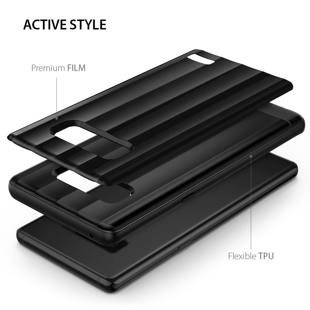 active style with premium film and flexible tpu bumper