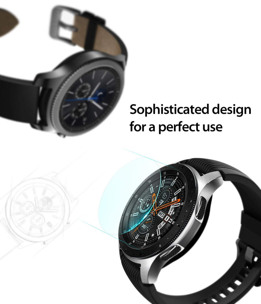 samsung galaxy watch mm gear s3 invisible defender glass sophisticated design