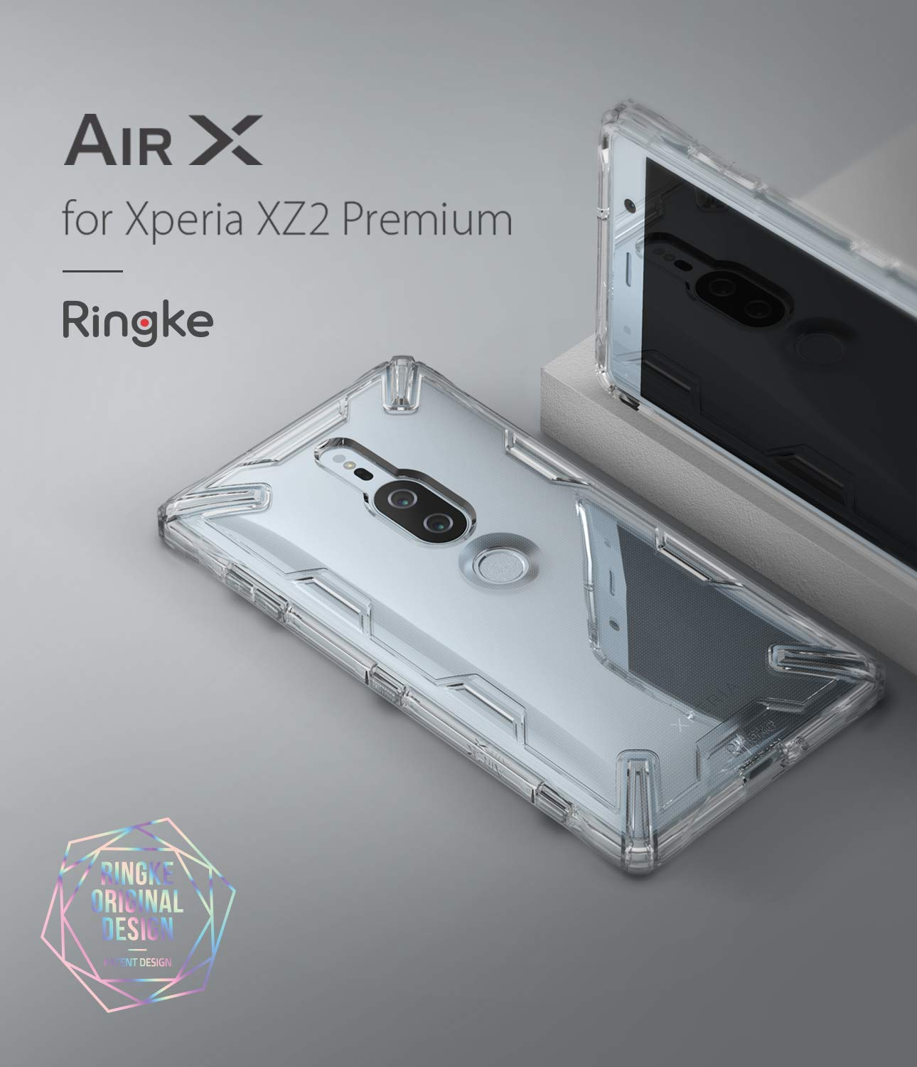 xperia xz2 premium air case x smoke black