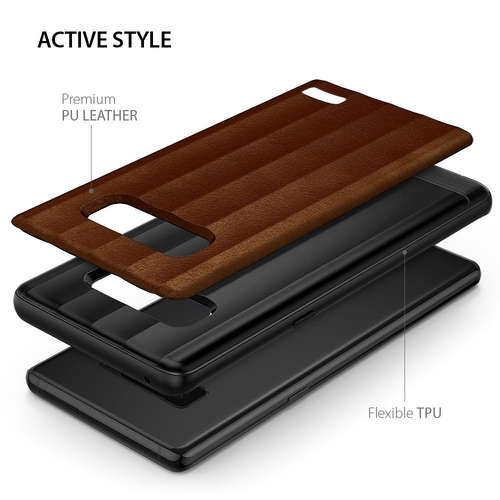active style with premium PU leather and flexible TPU bumper