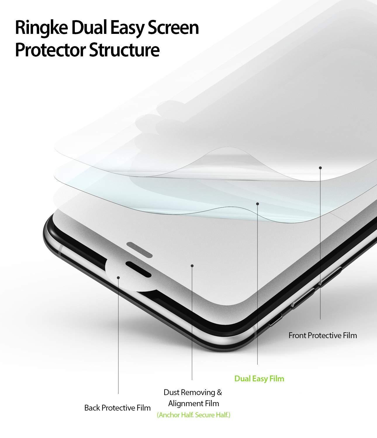ringke dual easy film for iphone xs screen protector layer