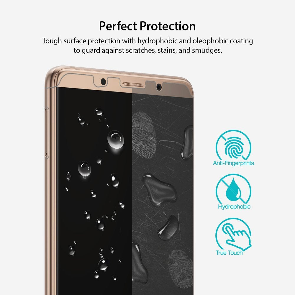 tough surface protection with hydrophobic, oleophobic coating