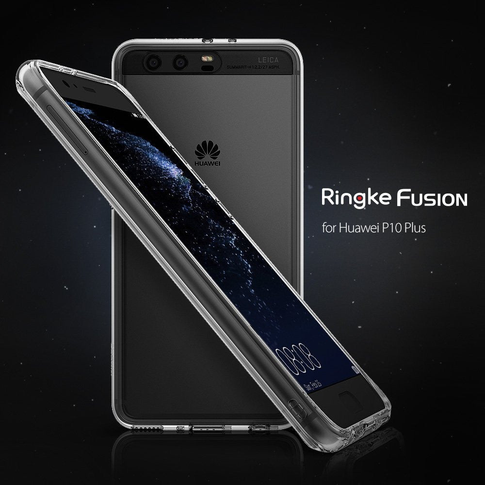 huawei p10 plus case ringke fusion case crystal clear pc back tpu bumper case