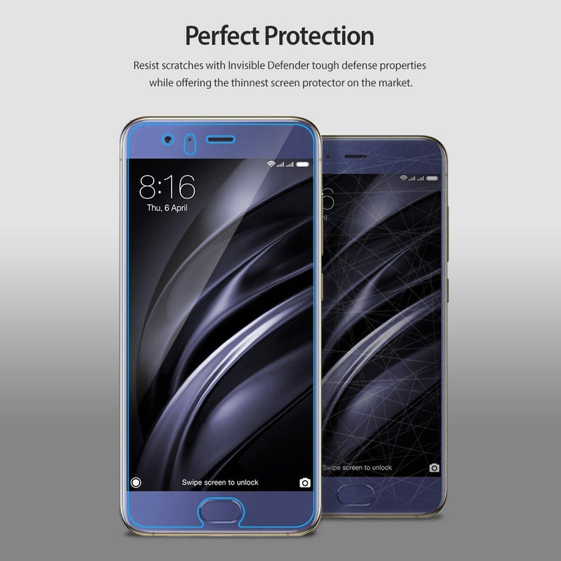 Xiaomi Mi6, Ringke® [INVISIBLE DEFENDER] 4-Pack HD Clearness Screen Protector