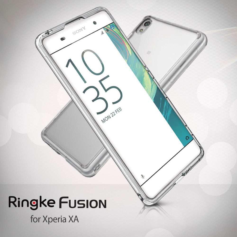 xperia xa case, ringke fusion case crystal clear pc back tpu bumper case
