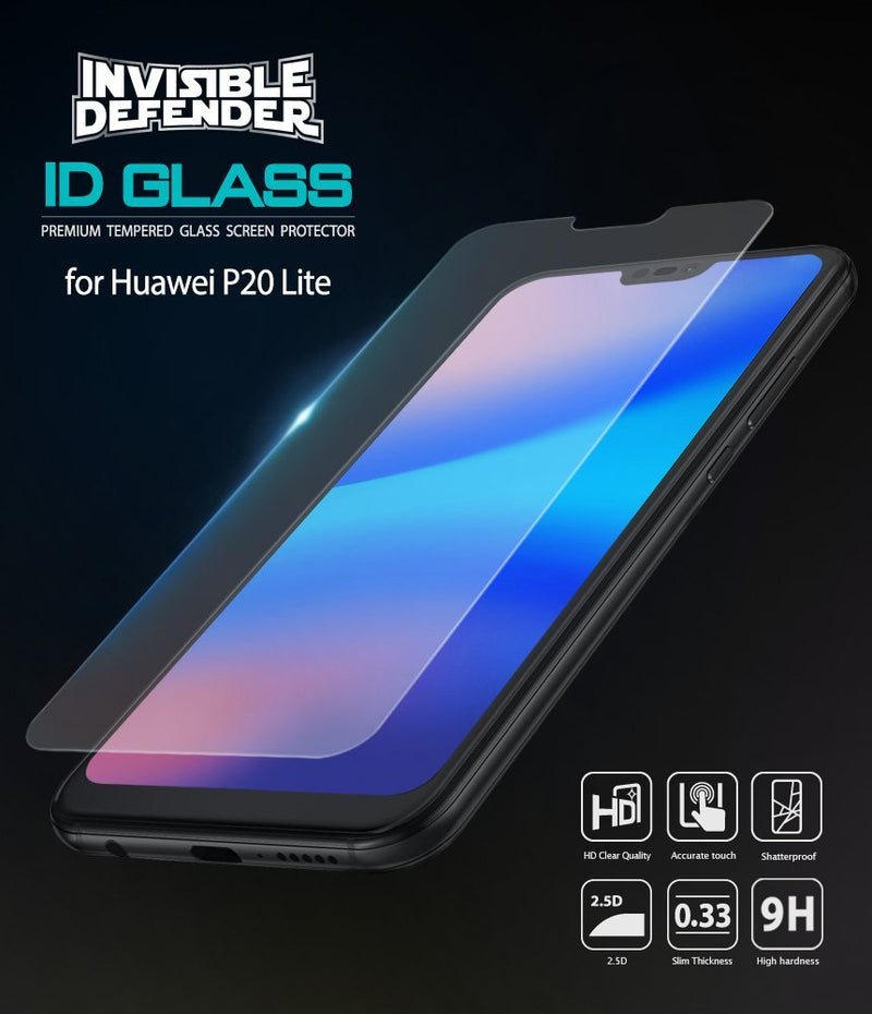 Huawei P20 Lite [Tempered Glass 0.33mm] [3 Pack]