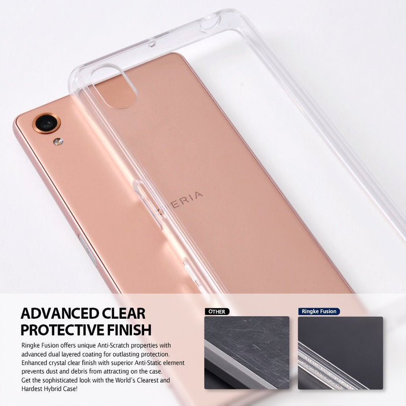 Xperia X Case, Ringke® [FUSION] Crystal Clear PC Back TPU Bumper Case