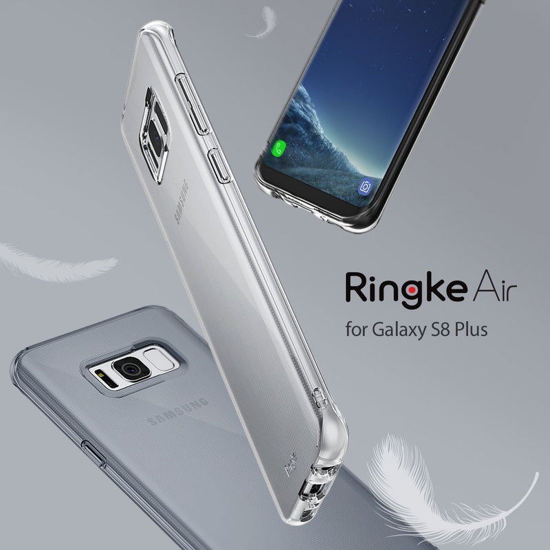 Samsung Galaxy S8 Plus Case, Ringke® [AIR] Extreme Lightweight, Thin Transparent Soft Flexible TPU