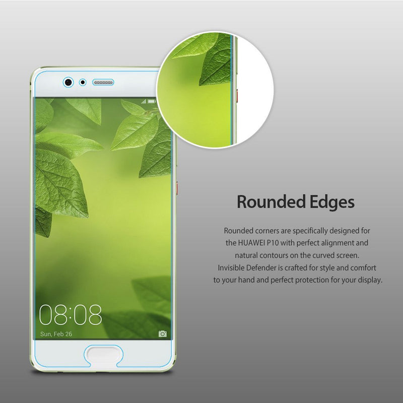 Huawei P10 [INVISIBLE DEFENDER] Full Coverage Screen Protector [4 Pack]