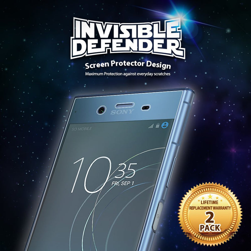 Sony Xperia XZ1 [INVISIBLE DEFENDER] Full Coverage Screen Protector