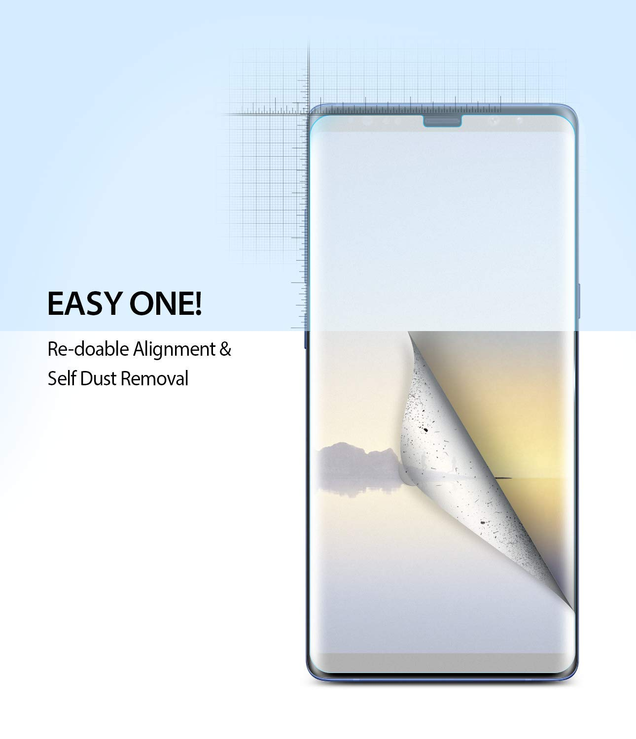 galaxy note 8 dual easy full cover screen protector 2 pack