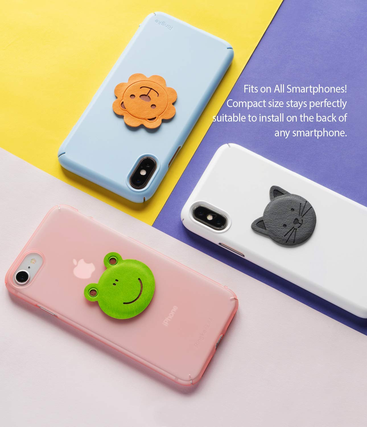 ringke magnetic character metal plate kit animal edition fits on all smartphones