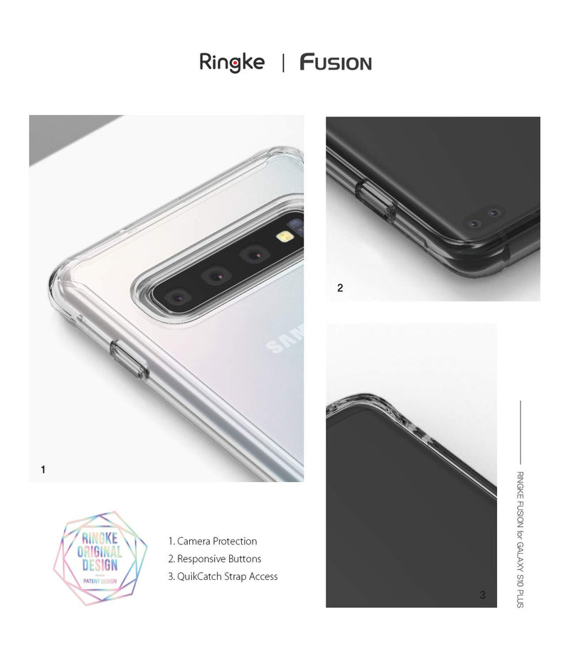 galaxy s10 plus fusion case smoke black