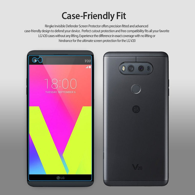 LG V20, Ringke® [Invisible Defender [Full Coverage] 2-Pack Screen Protector