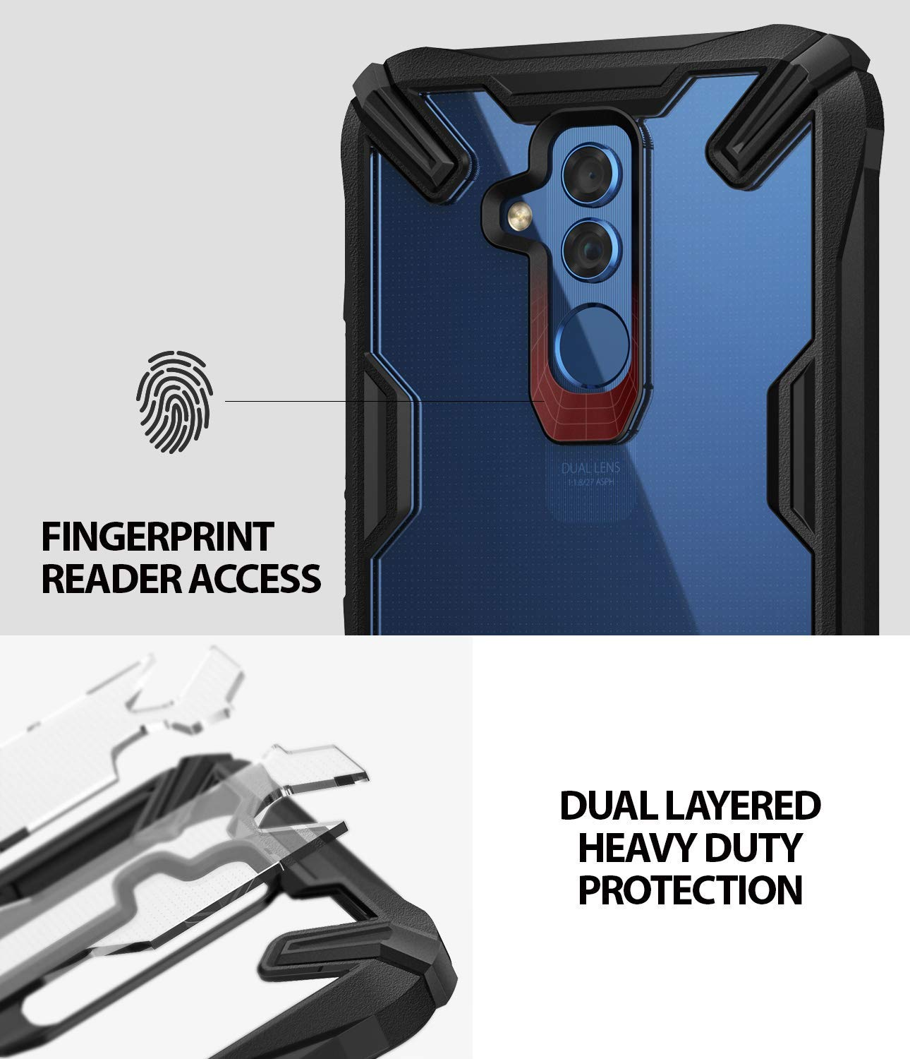 easy fingerprint reader access with dual layered heavy duty protection