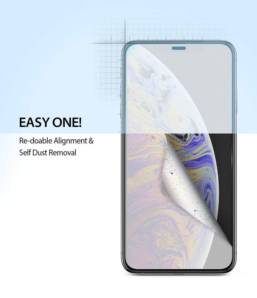 ringke dual easy film for iphone xs screen protector easy step one