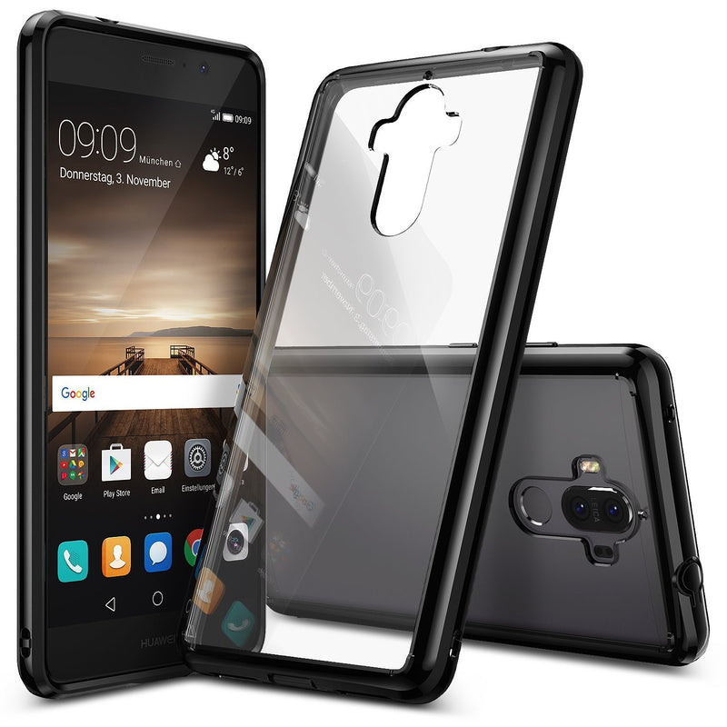 huawei mate 9 case ringke fusion case crystal clear pc back tpu bumper case ink black