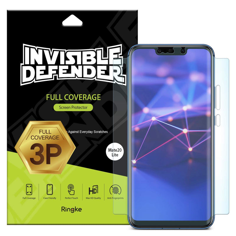huawei mate 20 lite invisible defender full coverage 3 pack