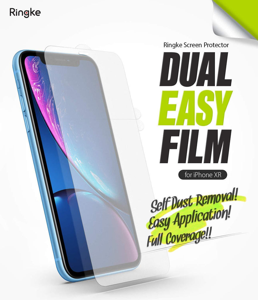 ringke dual easy film for iphone xr screen protector main