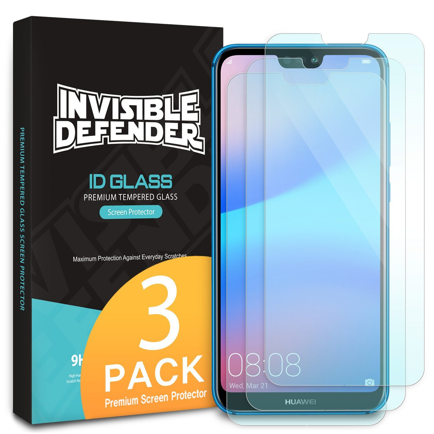 new concept 6dc74 57f59 Huawei P20 Lite [Tempered Glass 0.33mm] [3 Pack]