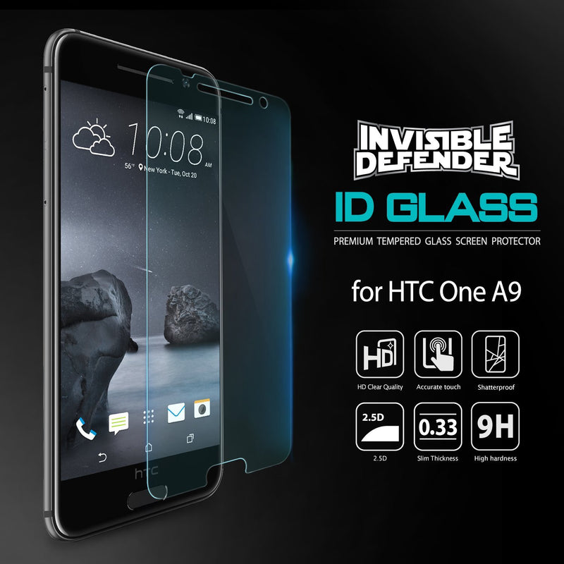 HTC One A9, Ringke® [INVISIBLE DEFENDER] [0.33mm] Tempered Glass Screen Protector