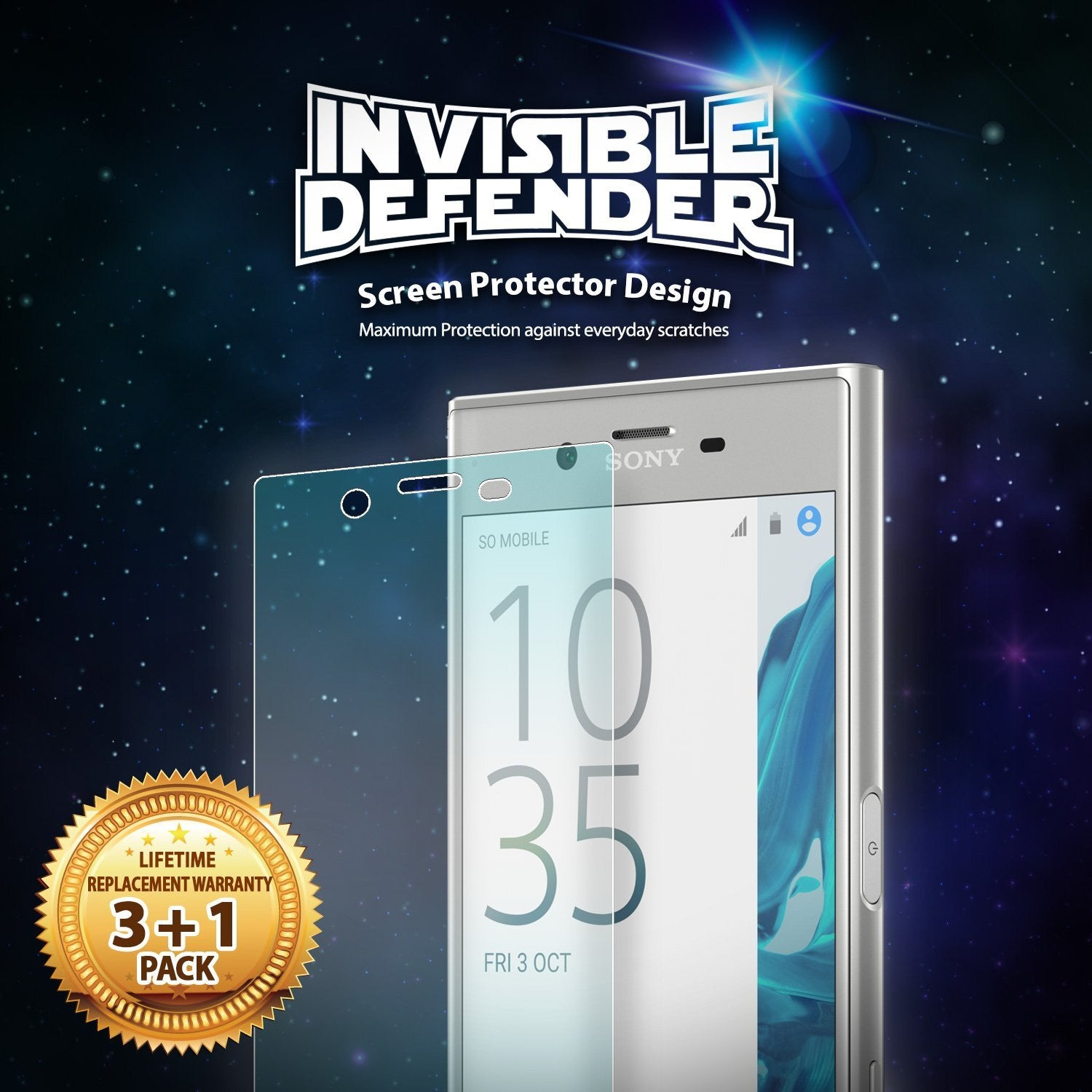 sony xperia xz ringke invisible defender 3 1 pack screen protector