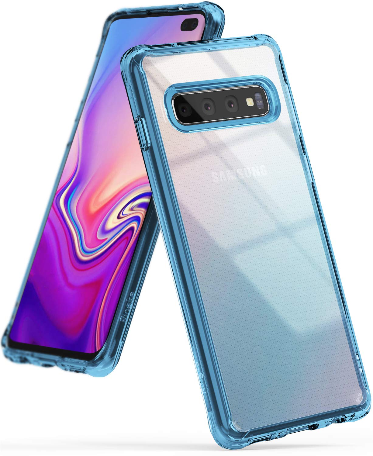 ringke galaxy s10 plus fusion case aqua blue