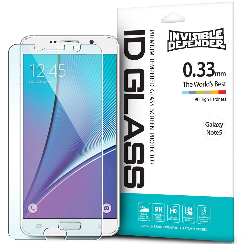 galaxy note 5 ringke invisible defender tempered glass screen protector