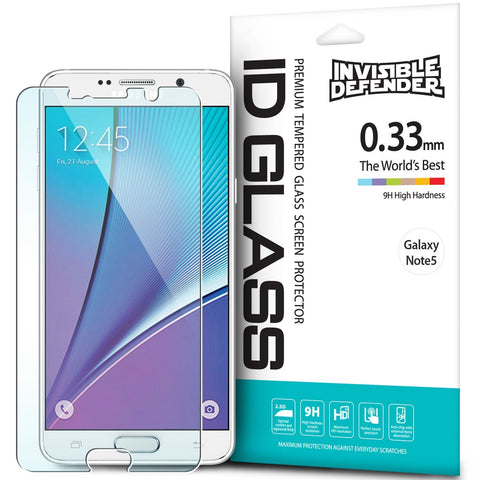 Galaxy Note 5, Ringke® [INVISIBLE DEFENDER] [0.33mm] Tempered Glass Screen Protector