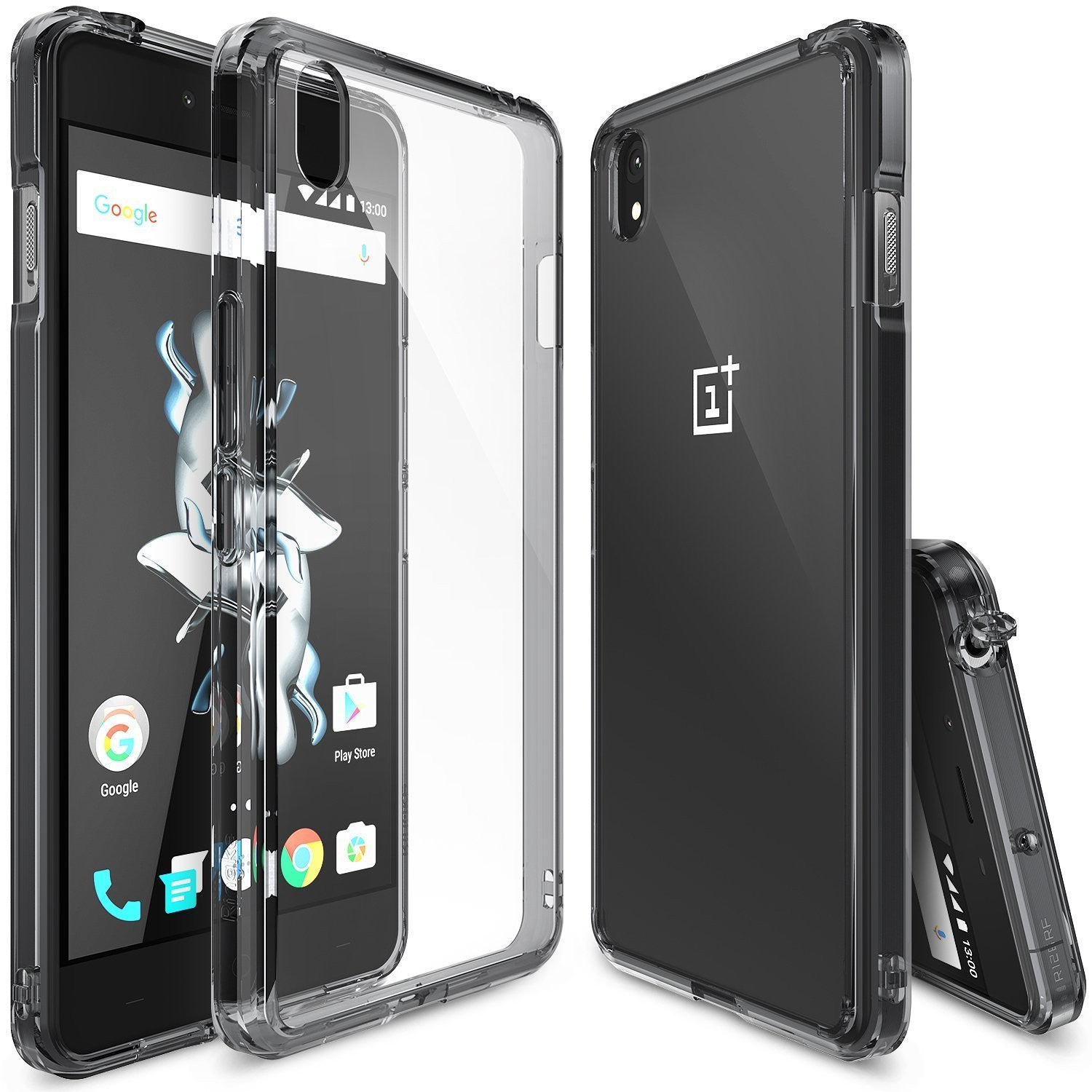 OnePlus X Case, Ringke® [FUSION] Crystal Clear PC Back TPU Bumper Case