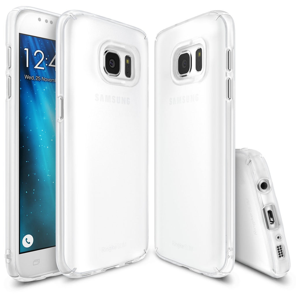 ringke slim premium pc hard cover case for galaxy s7 frost white