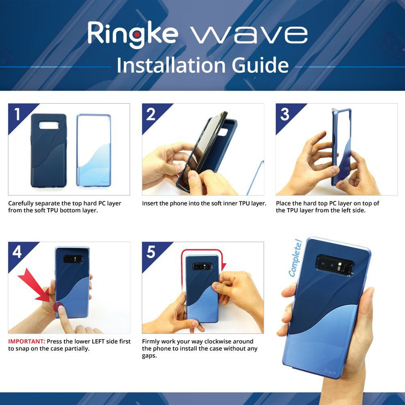 Samsung Galaxy Note 8, Ringke® [WAVE] Case