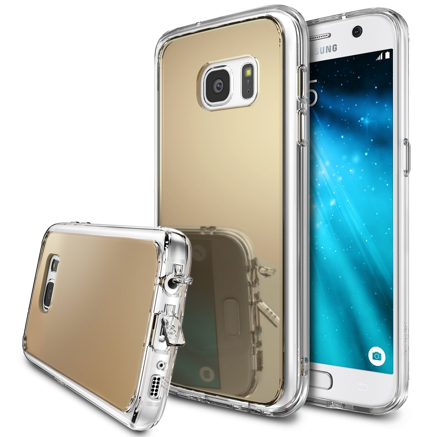 ringke mirror back cover case for galaxy s7 royal gold