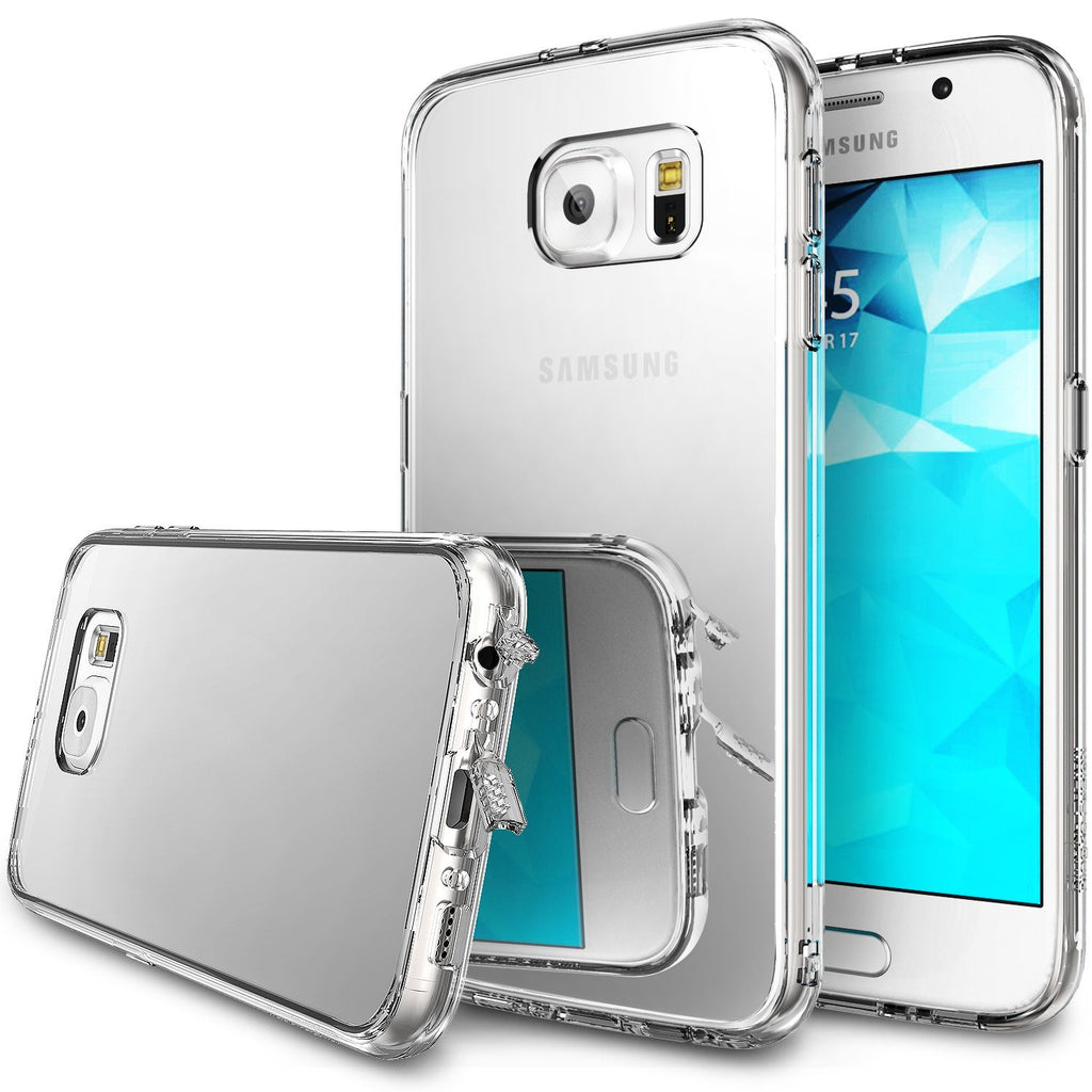 ringke mirror back cover case for galaxy s6 silver