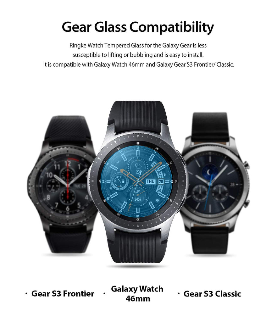 samsung galaxy watch mm gear s3 invisible defender glass compatibility