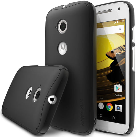 Moto E Case, Ringke®[Slim] Lightweight & Thin Superior Coaring PC Hard Case