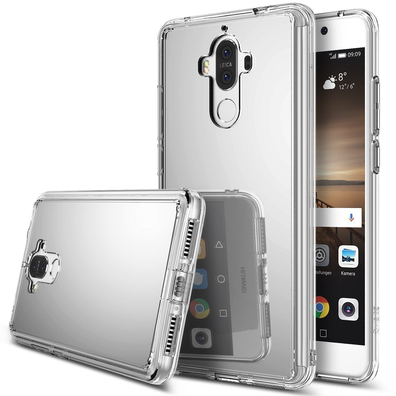 huawei mate 9 case ringke fusion case mirror case bright reflection radiant luxury mirror case silver