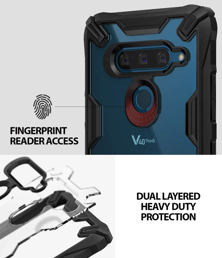 fingerprint reader access, dual layered heavy duty protection