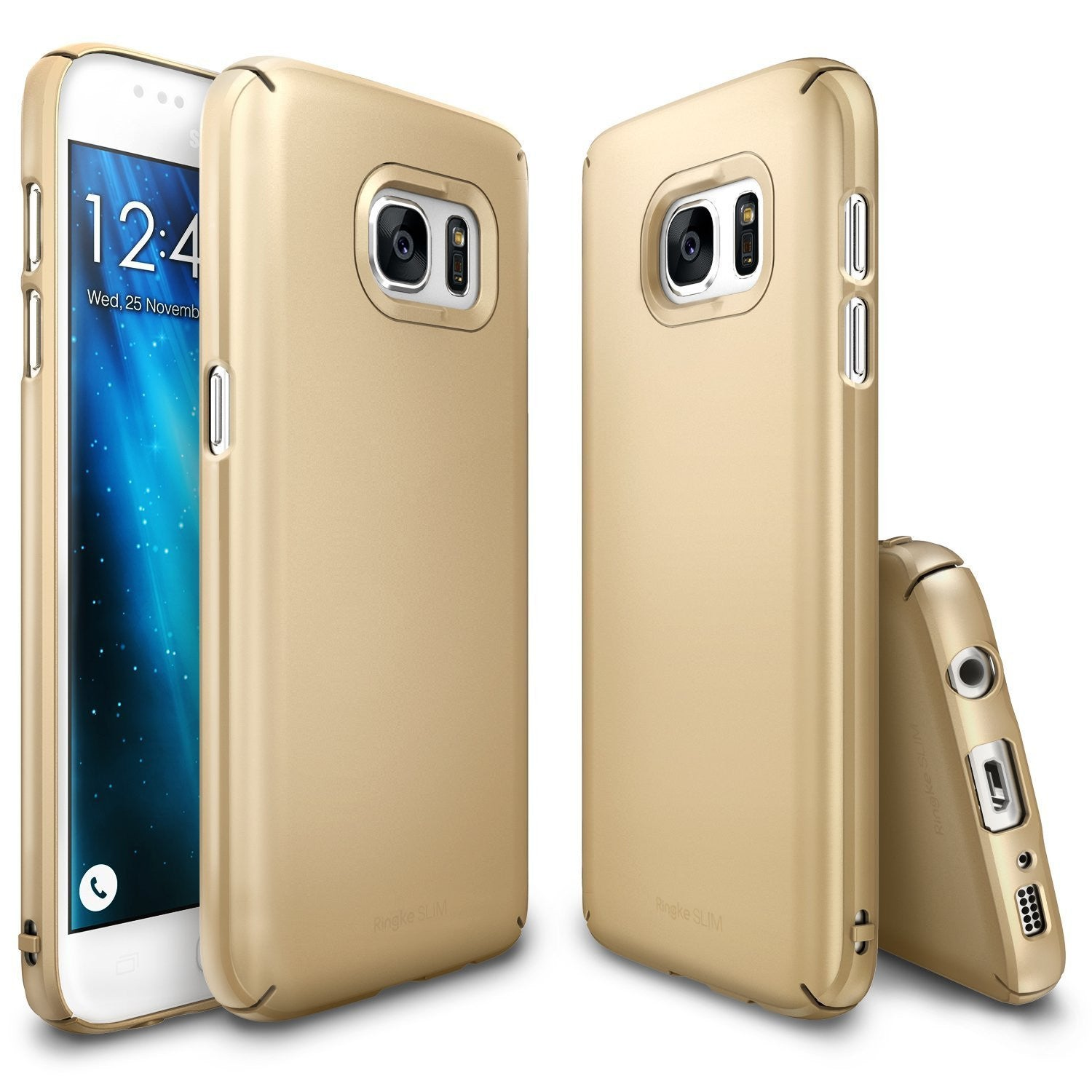 ringke slim premium pc hard cover case for galaxy s7 royal gold