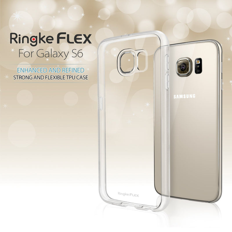 Galaxy S6 Case, Ringke® [FLEX] All Around Protection Flexible and Strong TPU Case