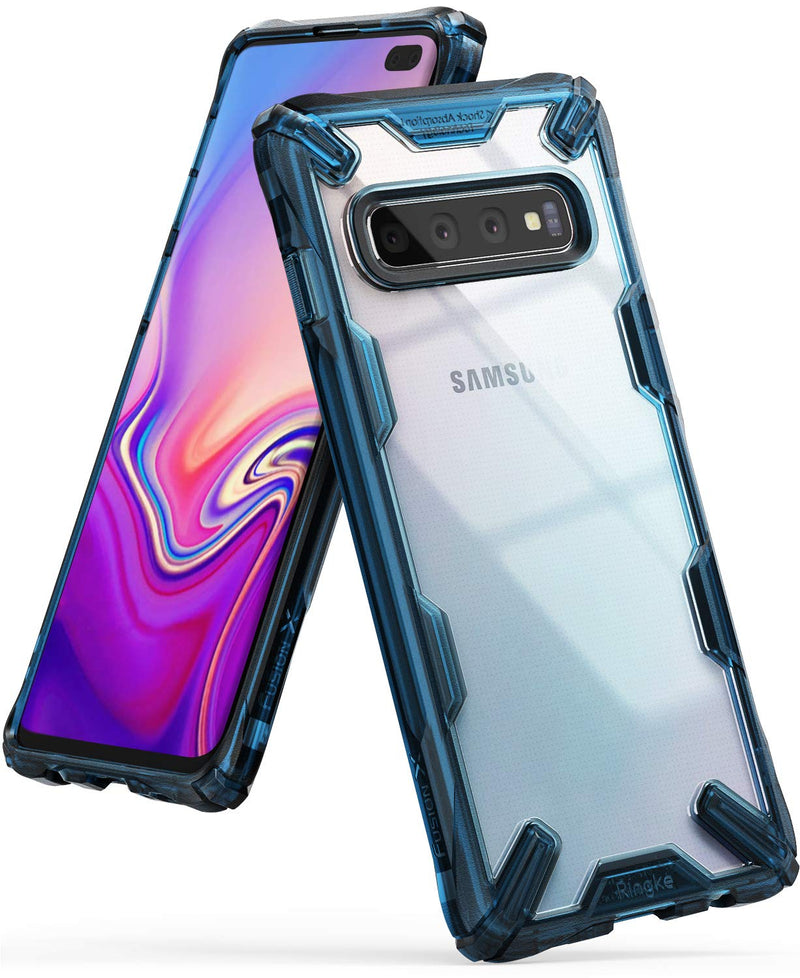 ringke galaxy s10 plus fusion-x case space blue