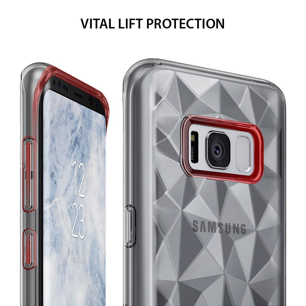 ringke air prism design back 3d flexible cover case for galaxy s8