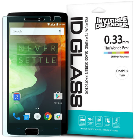 OnePlus 2, Ringke® [INVISIBLE DEFENDER] Tempered Glass Screen Protector