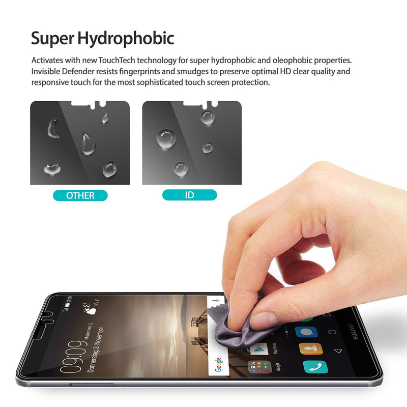 Huawei Mate 9, Ringke® [INVISIBLE DEFENDER] 3+1 Pack Screen Protector