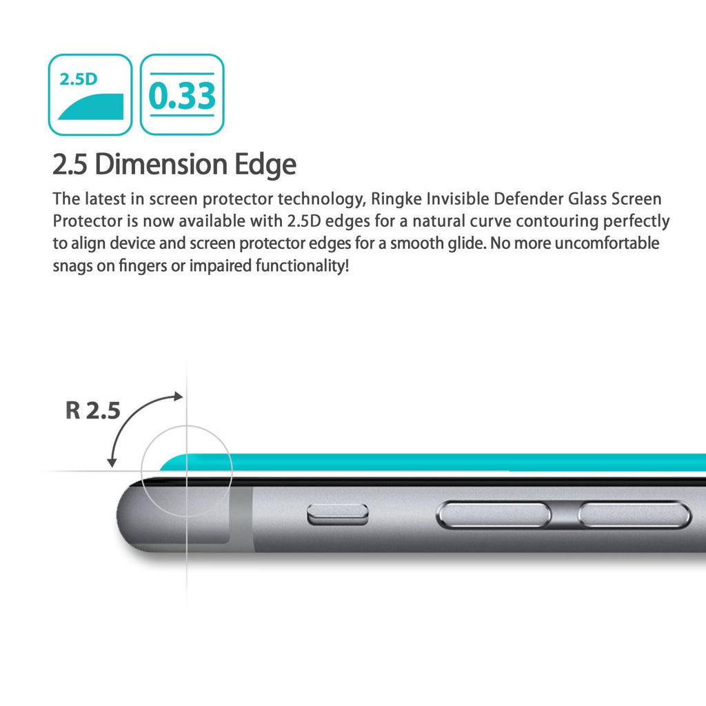 ringke tempered glass invisible defender screen protector for google nexus 6p main 2.5 dimension edge