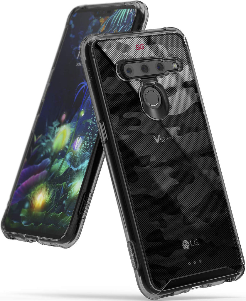 Ringke Fusion Design DDP Compatible with LG V50 ThinQ 5G Case - camo black