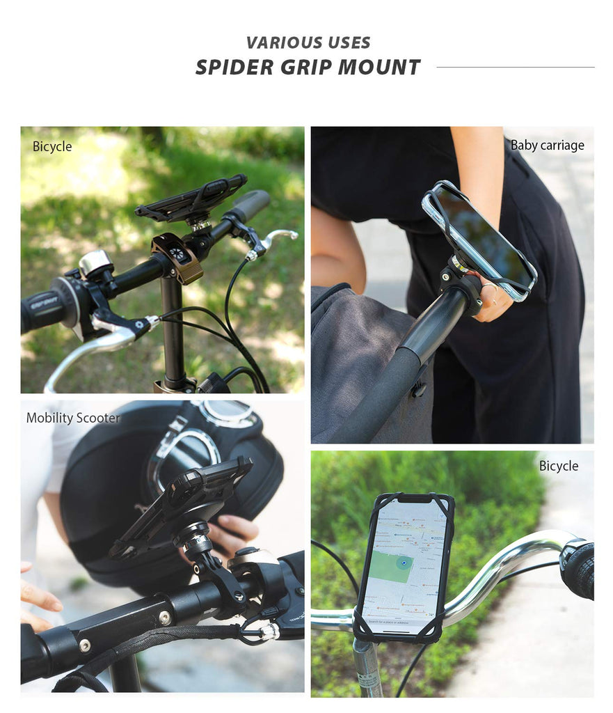ringke spider grip bike mount with secure elastic bands