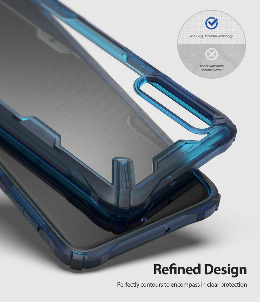refined design that perfectly contours to encompass in clear protection