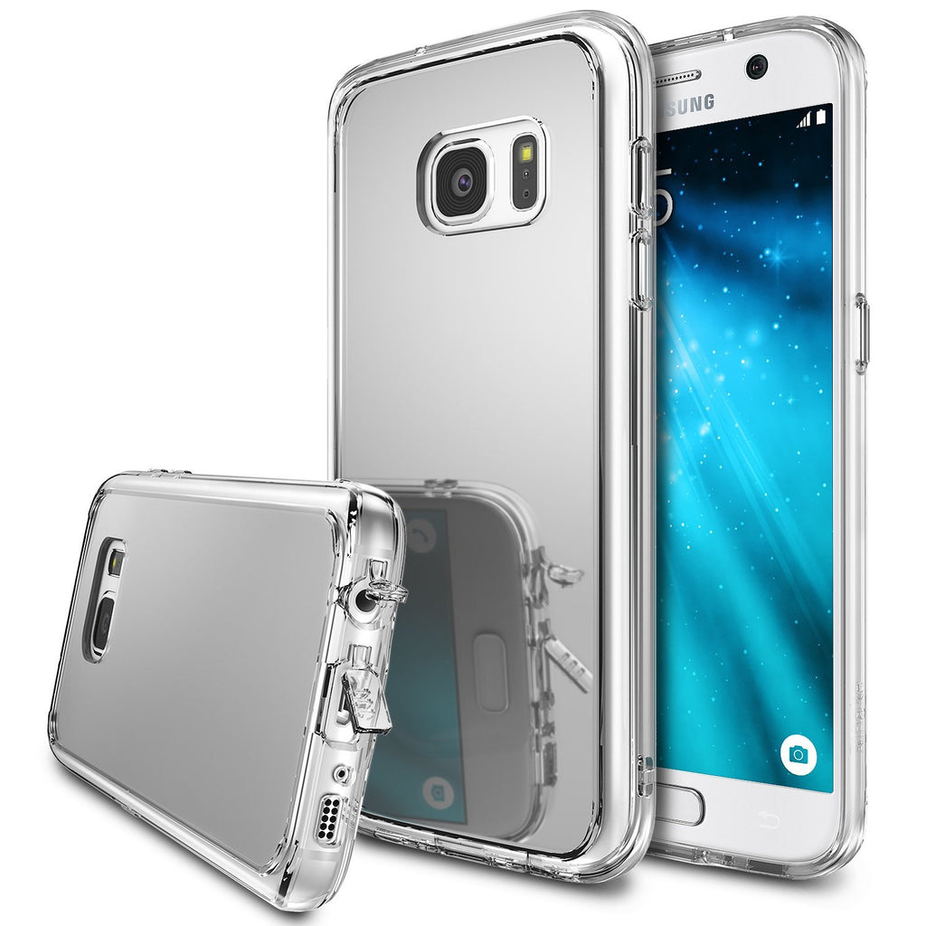 ringke mirror back cover case for galaxy s7 silver