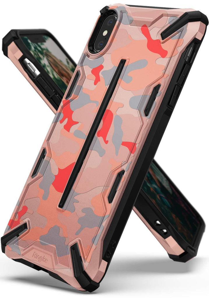 ringke dual-x for iphone xs case cover main camo pink